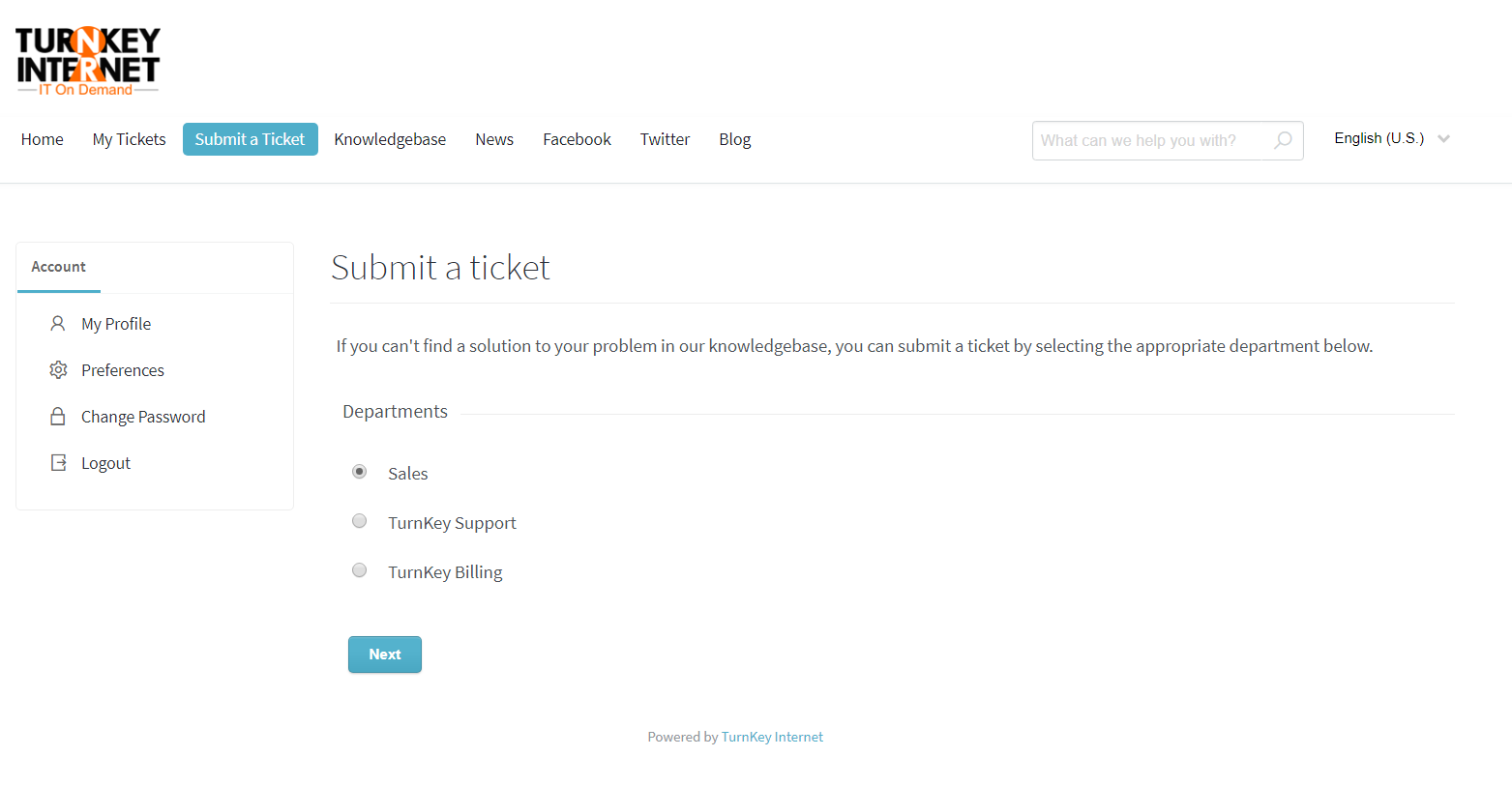 How to Submit a Support Ticket – TurnKey Internet